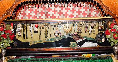 The incorrupt relics of St. Savvas the Sanctified