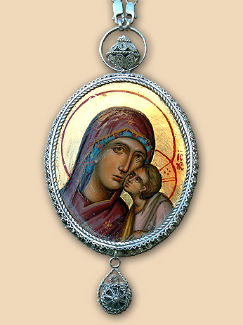 Silver filigree panagia of Bishop Atanasius (Jevtic)